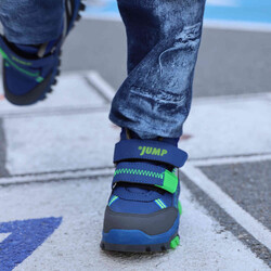 Jump - Jump 24219 Saks Mavi - Neon Yeşil Erkek Çocuk Bot (1)