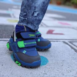 Jump 24219 Saks Mavi - Neon Yeşil Erkek Çocuk Bot - Thumbnail