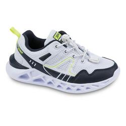 Jump - Jump 24742 Beyaz - Lacivert - Neon Yeşil Uniseks Çocuk Spor Ayakkabı