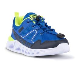 Jump 24742 Royal Mavi - Lacivert - Neon Yeşil Erkek Çocuk Spor Ayakkabı - Thumbnail