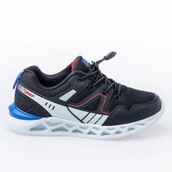 Jump - Jump 24742 Siyah - Beyaz - Kırmızı Erkek Çocuk Spor Ayakkabı