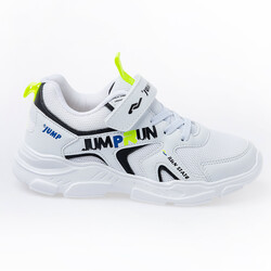 Jump - Jump 24747 Beyaz - Siyah Uniseks Çocuk Spor Ayakkabı