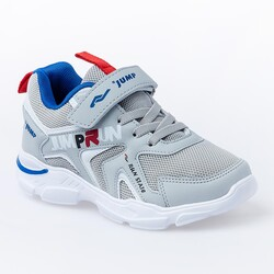Jump - Jump 24747 Gri - Royal Mavi Erkek Çocuk Spor Ayakkabı (1)