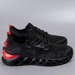 Jump 24757 Siyah - Kırmızı Erkek Spor Ayakkabı - Thumbnail