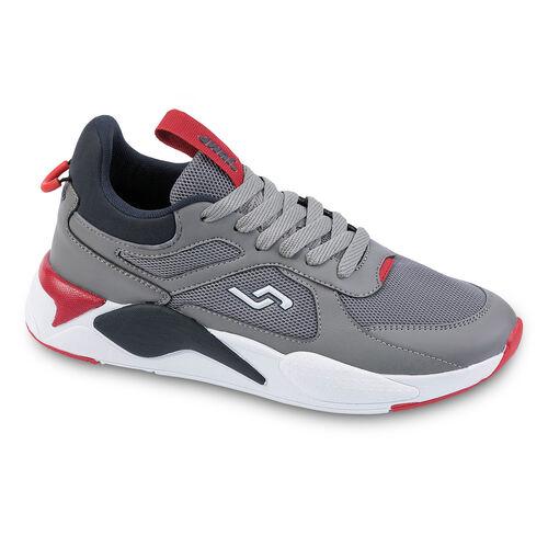Jump 24770 Gri - Lacivert - Kırmızı Erkek Spor Ayakkabı