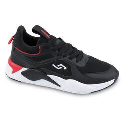Jump - Jump 24770 Siyah - Kırmızı Erkek Spor Ayakkabı