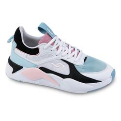 Jump - Jump 24772 Beyaz - Mavi - Somon Pembe Kadın Spor Ayakkabı