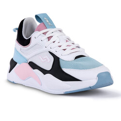 Jump - Jump 24772 Beyaz - Mavi - Somon Pembe Kadın Spor Ayakkabı (1)