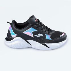 Jump - Jump 24800 Siyah - Somon Pembe Kadın Spor Ayakkabı