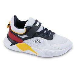 Jump - Jump 24931 Beyaz - Lacivert - Kırmızı - Sarı Uniseks Çocuk Spor Ayakkabı