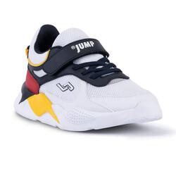 Jump - Jump 24931 Beyaz - Lacivert - Kırmızı - Sarı Uniseks Çocuk Spor Ayakkabı (1)