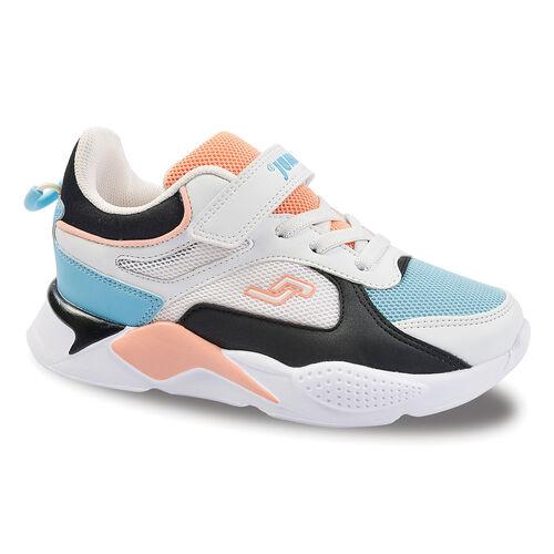 Jump 24931 Beyaz - Siyah - Somon - Mavi Kız Çocuk Spor Ayakkabı