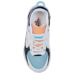 Jump 24931 Beyaz - Siyah - Somon - Mavi Kız Çocuk Spor Ayakkabı - Thumbnail