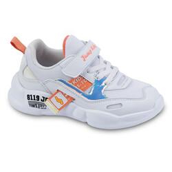 Jump - Jump 24936 Beyaz - Somon Pembe Kız Çocuk Spor Ayakkabı