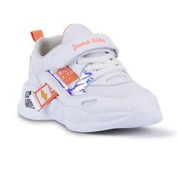 Jump - Jump 24936 Beyaz - Somon Pembe Kız Çocuk Spor Ayakkabı (1)