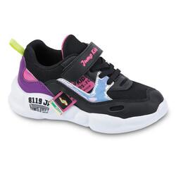 Jump - Jump 24936 Siyah - Mor - Fuşya Kız Çocuk Spor Ayakkabı