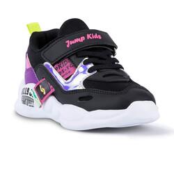 Jump - Jump 24936 Siyah - Mor - Fuşya Kız Çocuk Spor Ayakkabı (1)