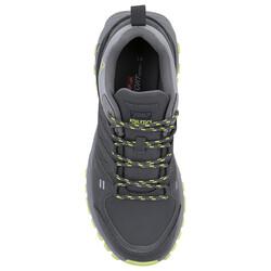 Jump 25676 Koyu Gri - Neon Yeşil Erkek Outdoor Spor Ayakkabı - Thumbnail