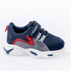 Jump 25833 Lacivert - Kırmızı Uniseks Çocuk Spor Ayakkabı - Thumbnail