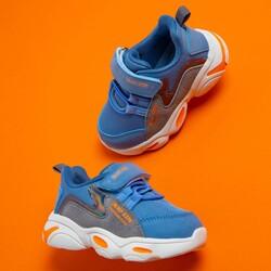 Jump 25833 Mavi - Gri - Yeşil Uniseks Çocuk Spor Ayakkabı - Thumbnail