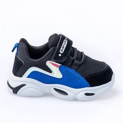 Jump - Jump 25833 Siyah - Royal Mavi Uniseks Çocuk Spor Ayakkabı