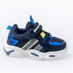 Jump - Jump 26056 Lacivert - Royal Mavi - Sarı Uniseks Çocuk Spor Ayakkabı