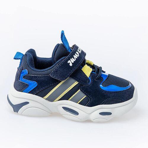 Jump 26056 Lacivert - Royal Mavi - Sarı Uniseks Çocuk Spor Ayakkabı