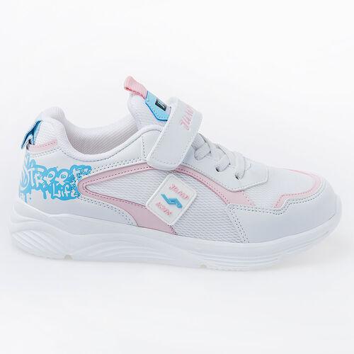 Jump 26093 Beyaz - Mavi - Pembe Kız Çocuk Spor Ayakkabı
