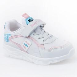 Jump - Jump 26093 Beyaz - Mavi - Pembe Kız Çocuk Spor Ayakkabı (1)