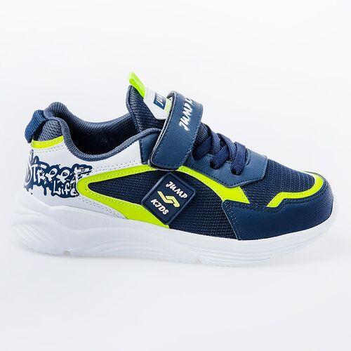 Jump 26093 Lacivert - Neon Yeşil - Beyaz Uniseks Çocuk Spor Ayakkabı