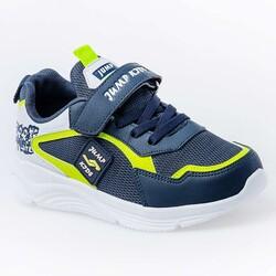 Jump - Jump 26093 Lacivert - Neon Yeşil - Beyaz Uniseks Çocuk Spor Ayakkabı (1)