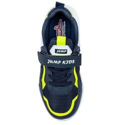 Jump 26093 Lacivert - Neon Yeşil - Beyaz Uniseks Çocuk Spor Ayakkabı - Thumbnail