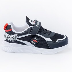 Jump - Jump 26093 Siyah - Beyaz - Kırmızı Uniseks Çocuk Spor Ayakkabı