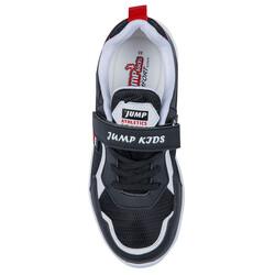 Jump 26093 Siyah - Beyaz - Kırmızı Uniseks Çocuk Spor Ayakkabı - Thumbnail