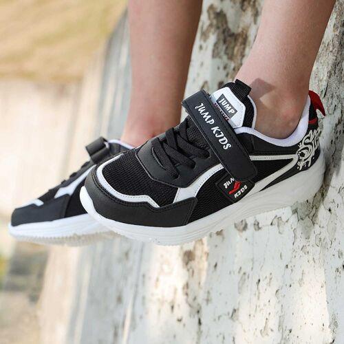 Jump 26093 Siyah - Beyaz - Kırmızı Uniseks Çocuk Spor Ayakkabı
