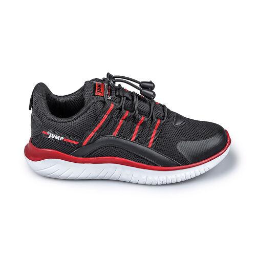 Jump 26095 Siyah - Kırmızı Uniseks Çocuk Spor Ayakkabı