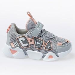 Jump - Jump 26133 Açık Gri - Somon Pembe - Beyaz Kız Çocuk Spor Ayakkabı