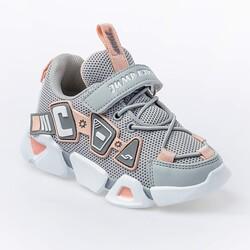 Jump - Jump 26133 Açık Gri - Somon Pembe - Beyaz Kız Çocuk Spor Ayakkabı (1)