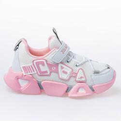 Jump - Jump 26133 Beyaz - Açık Pembe - Gri Kız Çocuk Spor Ayakkabı
