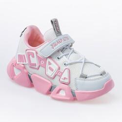 Jump - Jump 26133 Beyaz - Açık Pembe - Gri Kız Çocuk Spor Ayakkabı (1)