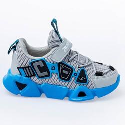 Jump - Jump 26133 Gri - Mavi - Beyaz Uniseks Çocuk Spor Ayakkabı
