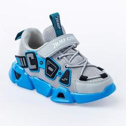 Jump - Jump 26133 Gri - Mavi - Beyaz Uniseks Çocuk Spor Ayakkabı (1)