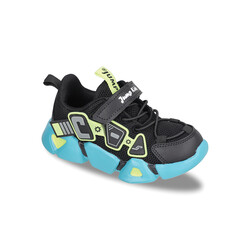 Jump - Jump 26133 Siyah - Neon Yeşil - Gri - Beyaz Uniseks Çocuk Spor Ayakkabı
