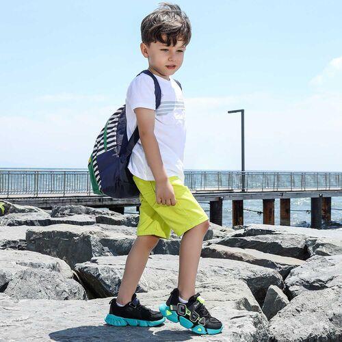 Jump 26133 Siyah - Neon Yeşil - Gri - Beyaz Uniseks Çocuk Spor Ayakkabı