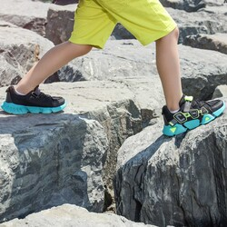 Jump 26133 Siyah - Neon Yeşil - Gri - Beyaz Uniseks Çocuk Spor Ayakkabı - Thumbnail