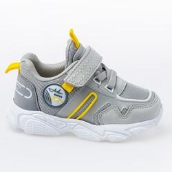 Jump - Jump 26182 Gri - Lacivert - Sarı Uniseks Çocuk Spor Ayakkabı