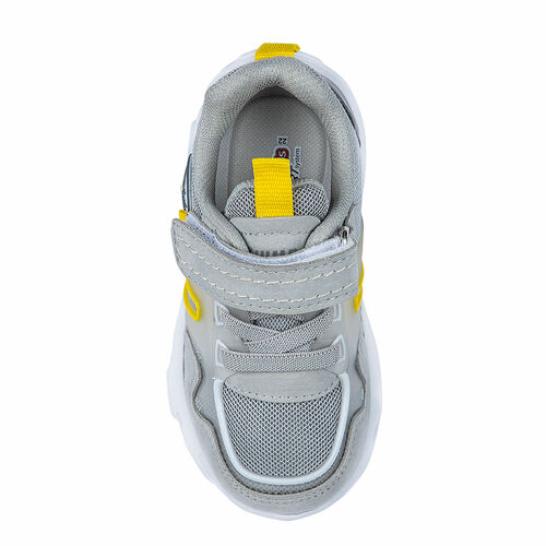 Jump 26182 Gri - Lacivert - Sarı Uniseks Çocuk Spor Ayakkabı