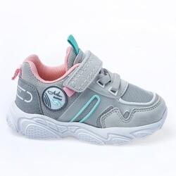 Jump - Jump 26182 Gri - Mint Yeşil - Pembe Kız Çocuk Spor Ayakkabı