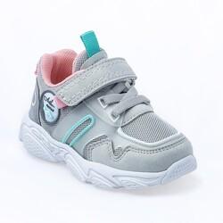 Jump - Jump 26182 Gri - Mint Yeşil - Pembe Kız Çocuk Spor Ayakkabı (1)