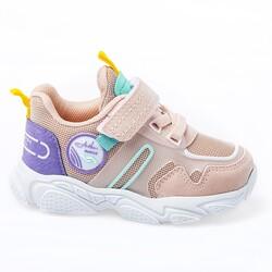 Jump - Jump 26182 Pembe - Mint Yeşil - Sarı - Mor Kız Çocuk Spor Ayakkabı